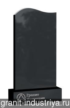 Вертикальный фигурный памятник №2 (120x60x5; круговая полировка) Габбро-Диабаз, арт. 6903