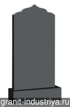 Вертикальный фигурный памятник №6 (100x50x8; круговая полировка) Габбро-Диабаз, арт. 6924