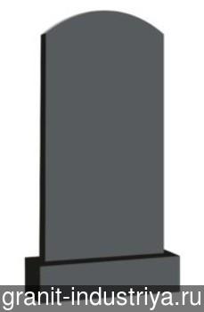 Вертикальный фигурный памятник №3 (80x40x8; круговая полировка) Габбро-Диабаз, арт. 6906