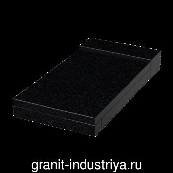 Надгробная плита Габбро-Диабаз 100x50x5 (1-сторонняя), арт. 4057