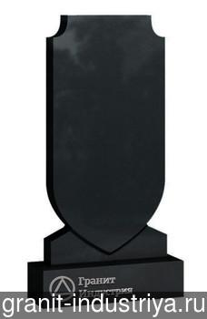Вертикальный фигурный памятник №12 (100x50x10; круговая полировка) Габбро-Диабаз, арт. 6948