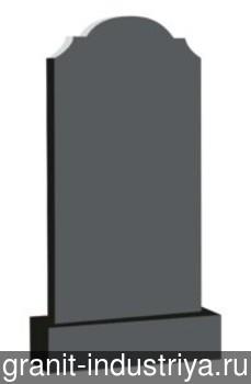Вертикальный фигурный памятник №5 (100x50x5; круговая полировка) Габбро-Диабаз, арт. 6919